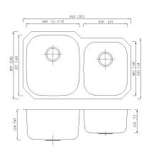 Lavatório de banheiro de design moderno estampado