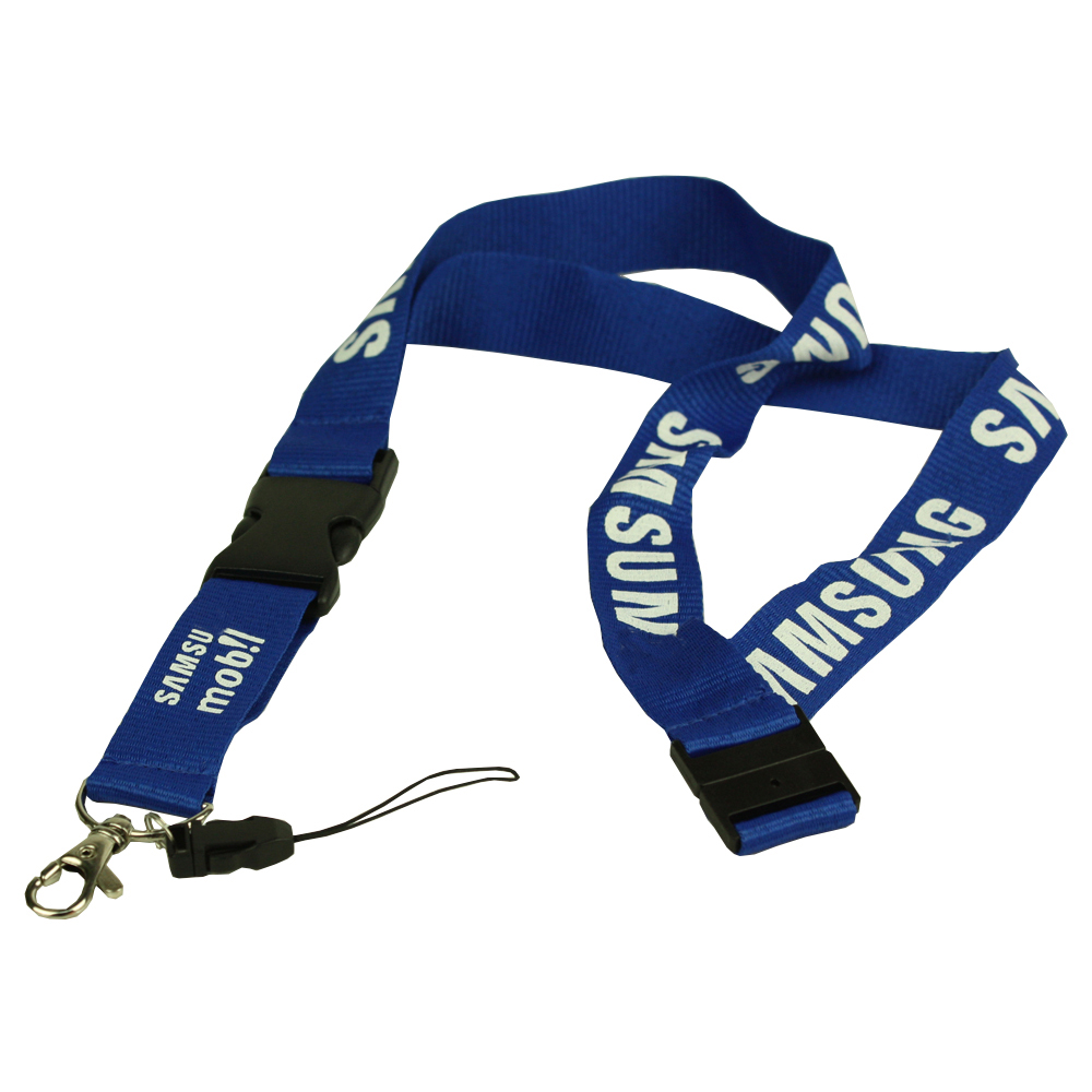 Flat personalized lanyards
