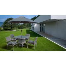 Osier jardin Patio extérieur meubles rotin dinant l'ensemble