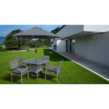 Wicker Garten Terrasse Möbel Rattan Ess-Set