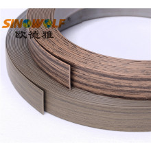 10 Years for PVC edge Banding Matt Woodgrain Matt and Embossing Matt Finished Edge Banding export to Germany Manufacturers