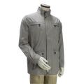 Men′s Highneck Zip up Casual Jacket Outcoat