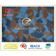 300t Poly Pongee Navy Color Pattern Desert Printing Fabric (ZCBP148)