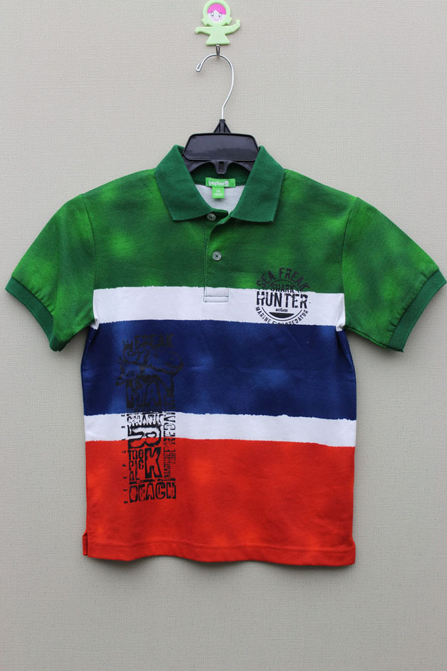 BOY'S 100% COTTON KNITTED ALL OVER PRINT POLO