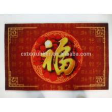 Tapinha de revestimento de PVC, impressão tapete de porta de PVC, tapete de chão vermelho
