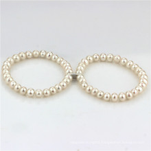 Fresh Water Pearls Bracelet 6.5-7.5mm a+ Near Round White Pearl Bracelet