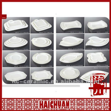 Placa irregular de cerámica, placa y placa de forma irregular