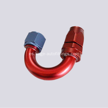 PTFE 180 ° Hose End Suit 200 Series Manguera