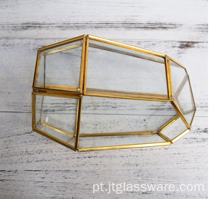Vasos de vidro Clear Terrarium Glass Geometric