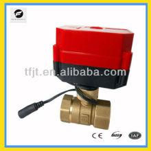 """válvula de control del motor eléctrico de latón inalámbrico remoto DC9-24V 1/2 """""""