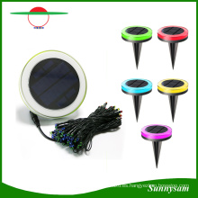 RGB Luces solares coloridas de la secuencia para la decoración del festival del jardín de la Navidad