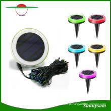 Cor de controle remoto que muda o diodo emissor de luz decorativo solar com 10 medidores de luz da corda