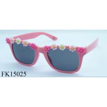 Certificación CE con gafas de sol de flor para niñas (FK15025)