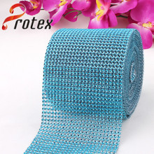 Blue Artificial 24 Rows *10 Yards Diamond Wrap