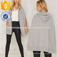 Gray Front Pocket Hooded Top OEM/ODM Manufacture Wholesale Fashion Women Apparel (TA7015H)