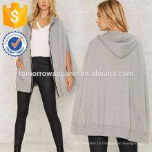 Серый передний карман с капюшоном Топ OEM/ODM в производство Оптовая продажа женской одежды (TA7015H)