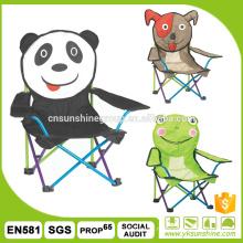 Chaise pliante de jeunes animaux de dessin animé avec 210D sac de camping