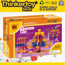 Brinquedo educativo plástico do edifício para crianças