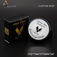 Vapor Tech Acier inoxydable Wire Mesh Resistance Clapton Wire Hot Sale Clapton Wire E Vape