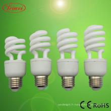T3 9-15W spirale moitié lumière de la lampe CFL
