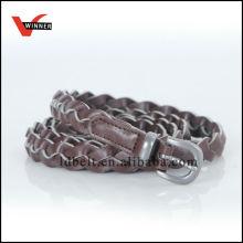 2014 Neue Schokoladenfarbe Pu Leder Stitching Gürtel