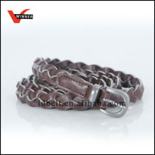 2014 New Chocolate Color Pu Leather Stitching Belts