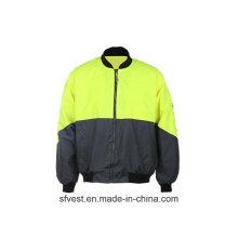 Hoch sichtbare Sicherheitsjacke mit En ISO 20471