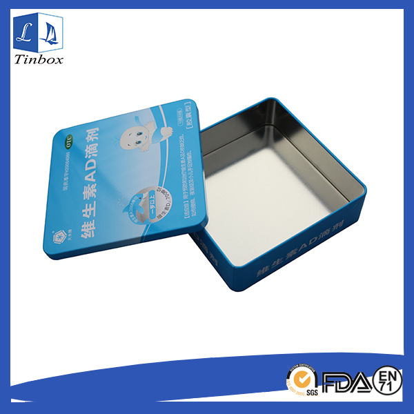 Square Tin Containers With Lids