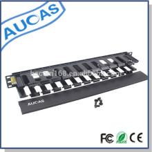 Gestion de câble 1u de haute qualité pour la gestion verticale des câbles de l'armoire du serveur 19 pouces