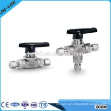 Fabricante de válvulas de esfera de alta pressão de 3 vias