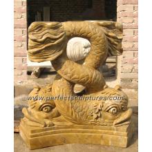 Stone Marble Base Pedestal for Marble Stone Pedestal Base (BA032)