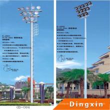 Mástil de iluminación de mástil alto de 15 m Sports Stadium con escalera artificial