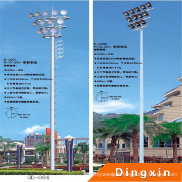22m Sports Stadium High Mast Lighting Pole with Artificial Ladder