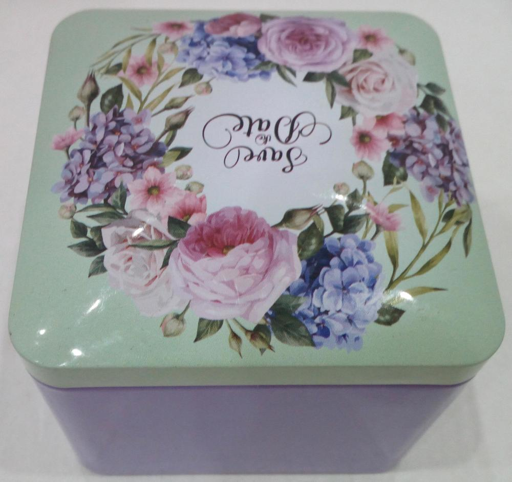 Antique Rose Festive Candy Tin Box