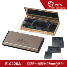 Empty gold eyeshadow display case makeup palette case