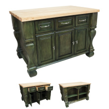 High quality home use solid wood kitchen island