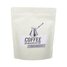 Белая матовая крафт-бумага Дой-пак из жареных кофейных зерен с термосвариваемым замком на молнии
