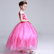 Rosa brillante de color sin mangas Hallowmas ropa de bebé niñas trajes de fiesta princesa colecciones niños vestidos de fiesta de celebración