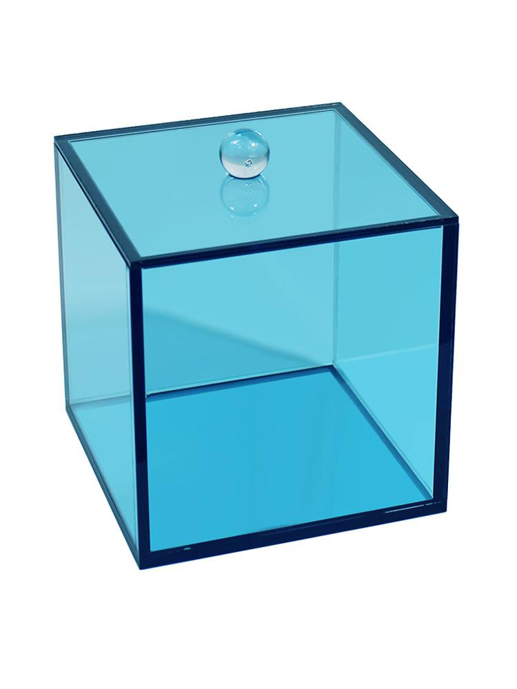 Acrylic Canister Blue