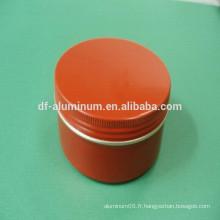 Pots en aluminium cosmétiques de meilleure qualité