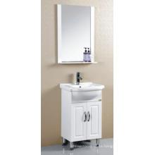 Muebles pintados blanco del gabinete de cuarto de baño del PVC (P-020)