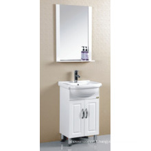 PVC White Painted Bathroom Cabinet Furniture (P-020)