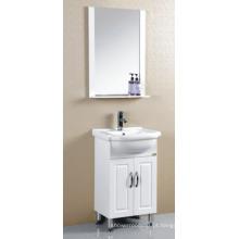 Mobília pintada branca do armário de banheiro do PVC (P-020)
