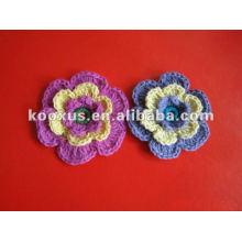 Nuevo diseño decorativo ganchillo lana flor