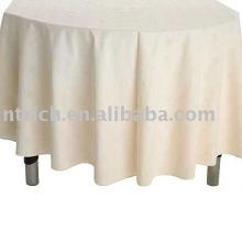 Mantel, cubierta de tabla del poliester 100%, lino de tabla