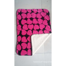 Super Soft 100% Polyester Printed Sherpa Fleece Throw /Star Blanket
