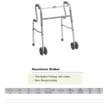 One Button Folding Walker with Castor