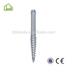 Hot dipped galvanized steel Q235 for Fene Ground Screw