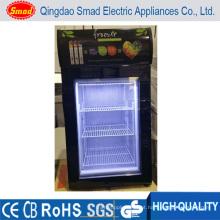 Congelador de vidro da porta do congelador da exposição do gelado do congelador da bancada mini congelador