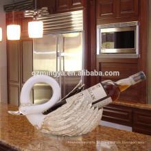 Design de decoração de interiores, sala de estar, escultura decorativa, vinho tinto, resina, resina, garrafa de vinho, suporte